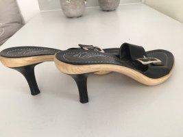 Hoge hakken sandalen zwart Leer