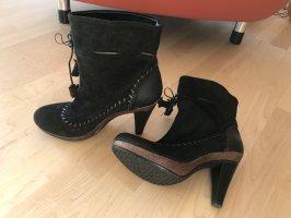 Bequeme High-Heel-Stiefeletten  schwarz