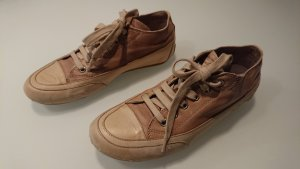 Candice Cooper Sneakers met veters wit-lichtbruin