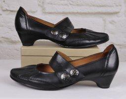 Bequeme Spangenpumps Jana Natural Größe 6,5 40 Schwarz Leder Biesen Schuhe Pumps Ballerina Mary Jane