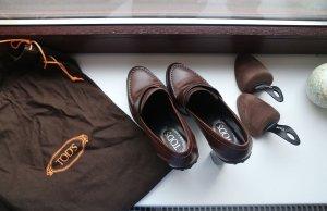 Tod's Slip-on Booties dark brown-brown