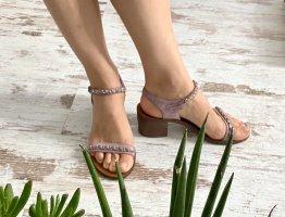 Chanel Sandales à lanière violet