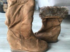 Botas de piel camel