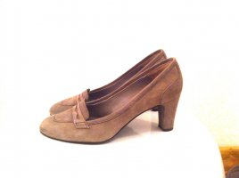 Carrière Loafers grey brown leather