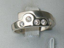 Bergkristall 925 Silberring Modern Art design Juwelierstück
