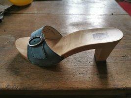 Berkemann Cady Nubukleder sexy Holzpantoletten mit Absatz 7cm