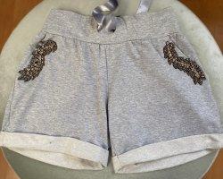Divina Bermudas light grey cotton