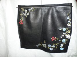 Bershka Leather Skirt black