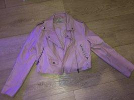 Bershka Leather Jacket pink-pink