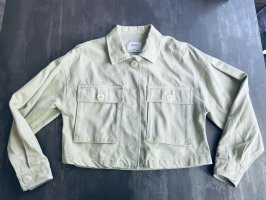 Bershka Oversized Jacket pale blue-sage green