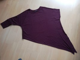 Bershka Camisa holgada burdeos