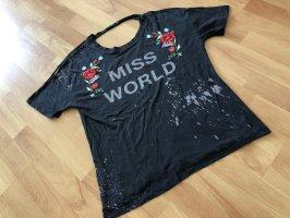 Bershka Shirt Gr. M schwarz