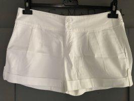 Bershka Short weiss Gr. 38 Hose Hot Pant