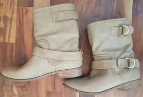 Bershka Short Boots sand brown