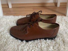 Zapatos brogue coñac-marrón