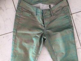 & DENIM Stretch jeans lichtgroen-rosé