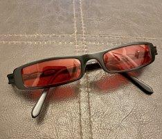 Occhiale stile retro rosso scuro-nero