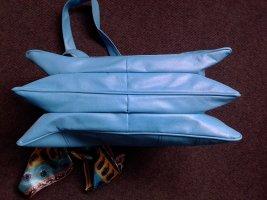 Handbag neon blue mixture fibre