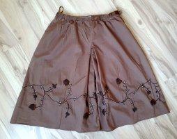 More & More Spódnica midi szaro-brązowy-brązowy