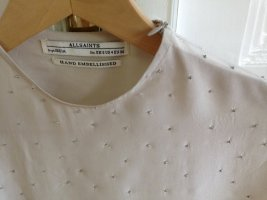 All Saints Camisa rosa empolvado Seda