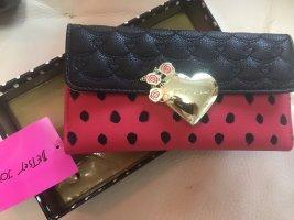 Betsey Johnson Wallet black-red