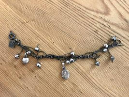 Hugo Boss Charm Bracelet black-silver-colored