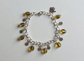 no name Charm Bracelet silver-colored-lime yellow mixture fibre