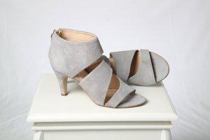Betty Barclay High Heel Sandal light grey leather