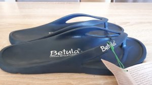 Betula Flip-Flop Sandals steel blue-dark yellow mixture fibre