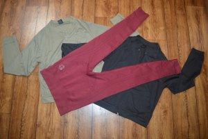 Pantalone da ginnastica bordeaux-rosso scuro