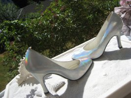 Casadei High Heels silver-colored leather