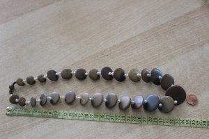 bezaubernde Statement Kette Holzscheiben Echt Perlen Permutt Vintage