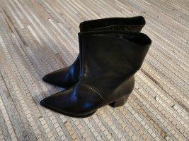 Bianco Wciągane buty za kostkę czarny