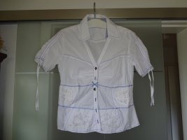 Biba Sommer- Crash-Bluse weiß/blau Gr.38