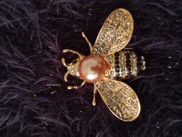 Biene Trend Blogger Brosche Anstecknadel Insekt gold