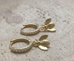 Bienen Ohrringe Silber 925 vergoldet