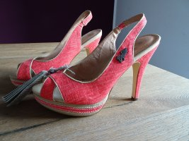 Big Star High Heels salmon mixture fibre