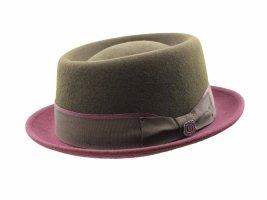 Woolen Hat brown-bordeaux wool