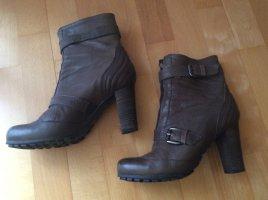 Cafènoir Zipper Booties taupe leather
