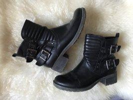biker boots schwarz / gr. 39