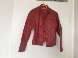 Benetton Skórzana kurtka czerwony