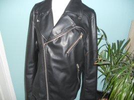 H&M Biker Jacket black polyester