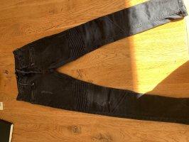 Zara Jeansy typu biker czarny