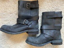 Zara Buty w stylu western czarny-srebrny