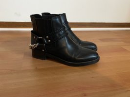 Pull & Bear Booties black-silver-colored