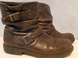 Bikkembergs Ankle Boots dark brown leather