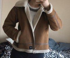 Sixth June Fur Jacket brown-natural white