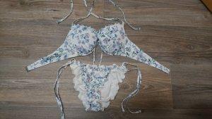 HM Bikini blanco-azul