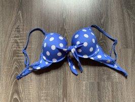 Bikini blau weiß Punkte gepunktet neu
