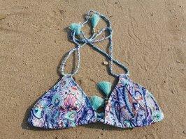 Victoria's Secret Bikini bleu acier-turquoise polyamide